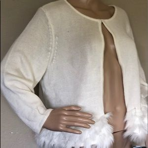 Alfani Faux Fur sweater shrug XL